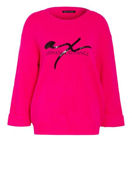 ARMANI EXCHANGE Pullover mit Paillettenbesatz , Farbe: PINK (Bild 1)