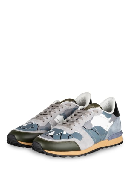 VALENTINO GARAVANI Sneaker ROCKRUNNER CAMOUFLAGE, Farbe: HELLGRAU/ BLAUGRAU/ OLIV (Bild 1)