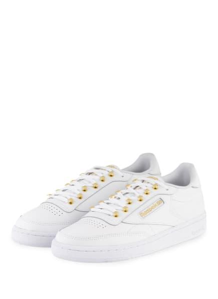 Reebok CLASSIC Sneaker CLUB C 85, Farbe: WEISS/ GOLD (Bild 1)