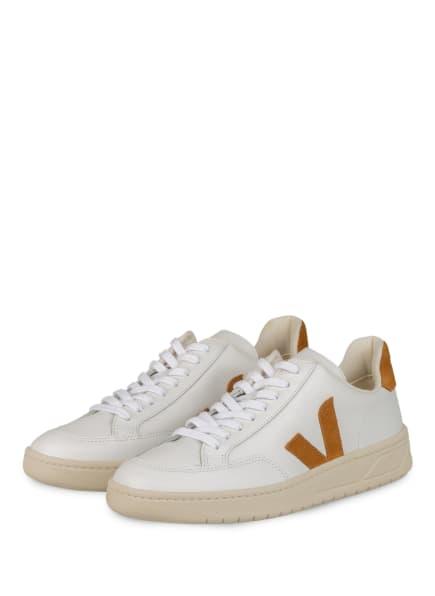 VEJA Sneaker V-12, Farbe: WEISS/ COGNAC (Bild 1)