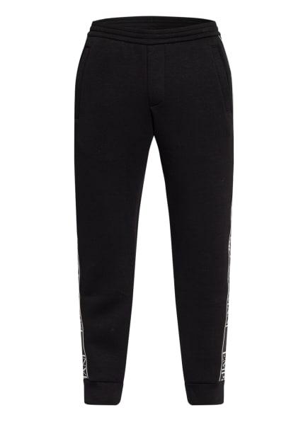 EMPORIO ARMANI Sweatpants mit Galonstreifen, Farbe: SCHWARZ/ WEISS (Bild 1)