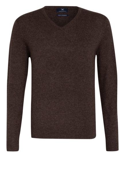 STROKESMAN'S Cashmere-Pullover , Farbe: DUNKELBRAUN (Bild 1)
