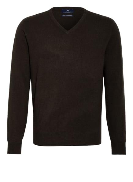 STROKESMAN'S Cashmere-Pullover , Farbe: KHAKI (Bild 1)