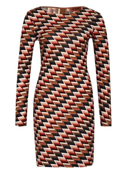 MISSONI Strickkleid, Farbe: DUNKELROT/ BEIGE/ DUNKELGRÜN (Bild 1)