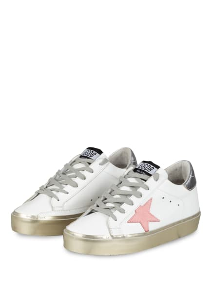 GOLDEN GOOSE Plateau-Sneaker HI STAR, Farbe: WEISS/ GOLD/ ROSA (Bild 1)