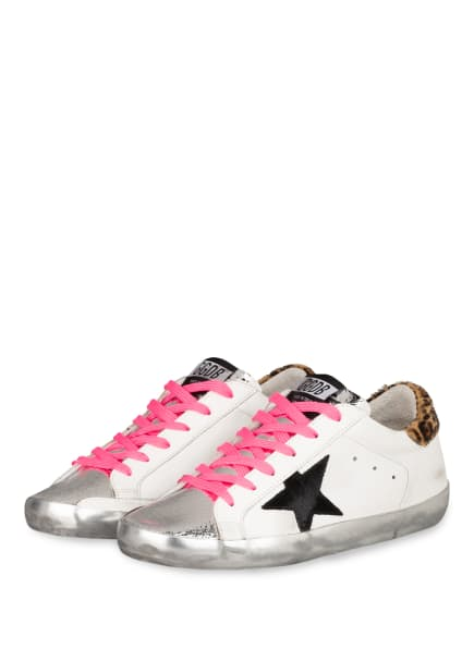 GOLDEN GOOSE DELUXE BRAND Sneaker SUPERSTAR, Farbe: WEISS/ SILBER/ SCHWARZ (Bild 1)