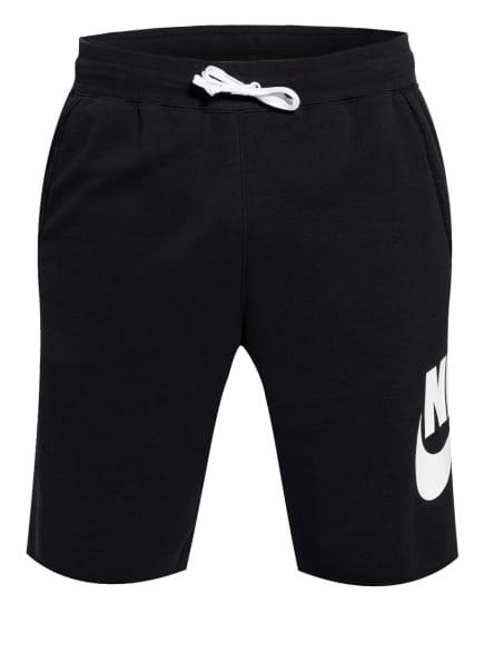Nike Sweatshorts, Farbe: SCHWARZ/ WEISS (Bild 1)