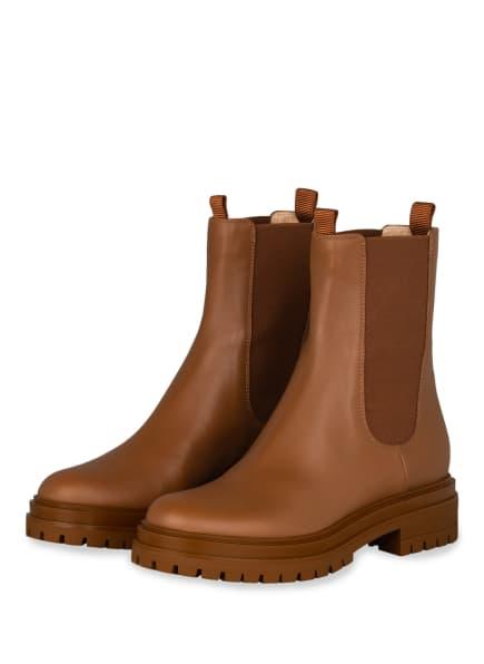 Gianvito Rossi Chelsea-Boots, Farbe: COGNAC (Bild 1)