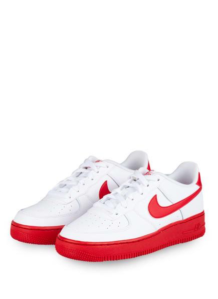 Nike Sneaker AIR FORCE 1, Farbe: WEISS/ ROT (Bild 1)