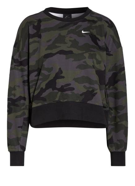 Nike Sweatshirt DRI-FIT GET FIT, Farbe: GRAU/ OLIV/ SCHWARZ (Bild 1)