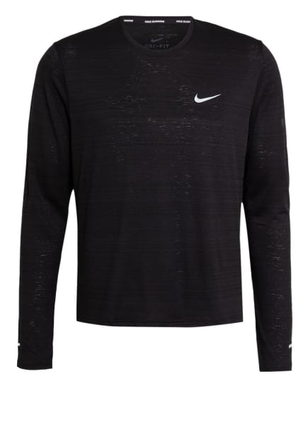 Nike Laufshirt DRI-FIT MILER, Farbe: SCHWARZ (Bild 1)