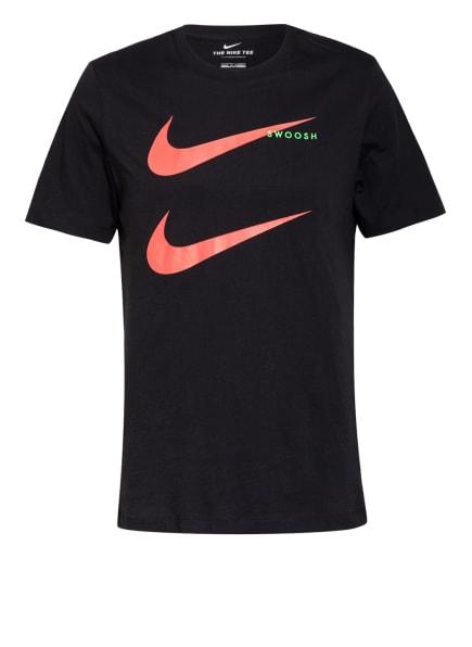 Nike T-Shirt SWOOSH, Farbe: SCHWARZ/ ROT (Bild 1)