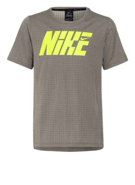 Nike T-Shirt BREATHE BIG KIDS', Farbe: OLIV/ NEONGELB (Bild 1)