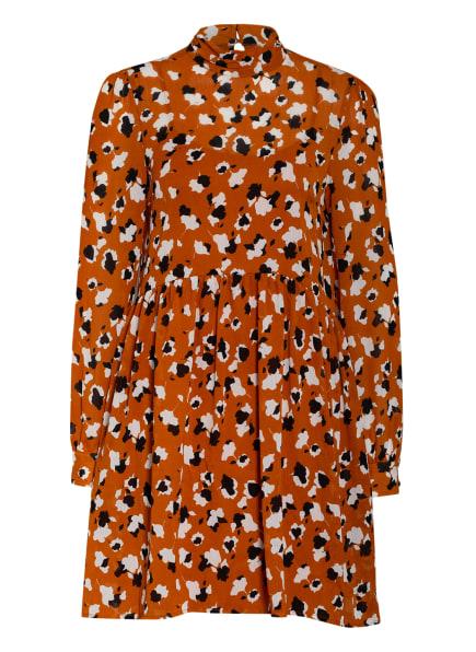 VILA Kleid, Farbe: DUNKELORANGE/ WEISS/ SCHWARZ (Bild 1)
