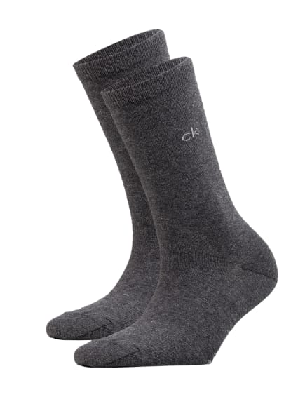 Calvin Klein 2er-Pack Strümpfe , Farbe: 004 dark grey melange (Bild 1)