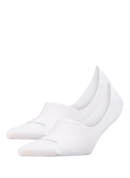 Calvin Klein 2er-Pack Füßlinge NO SHOW , Farbe: 002 WHITE (Bild 1)