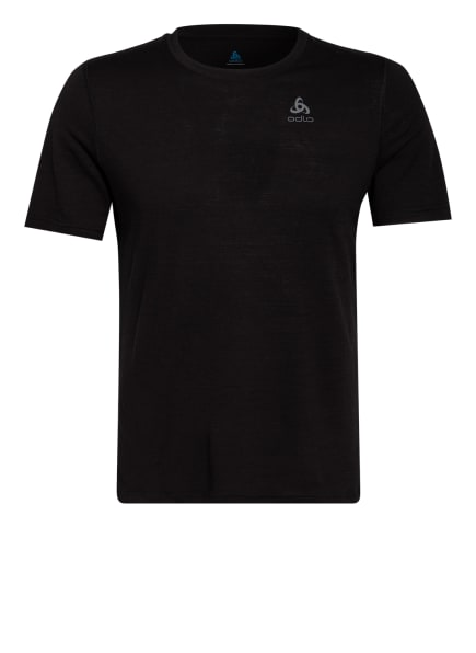 odlo Funktionswäsche-Shirt NATURAL 100% MERINO WARM aus Merinowolle , Farbe: SCHWARZ (Bild 1)