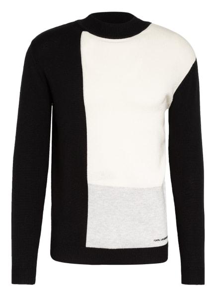 KARL LAGERFELD Pullover, Farbe: SCHWARZ/ WEISS/ HELLGRAU (Bild 1)