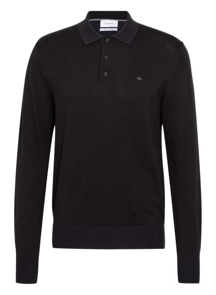 Calvin Klein Jersey-Poloshirt, Farbe: SCHWARZ (Bild 1)