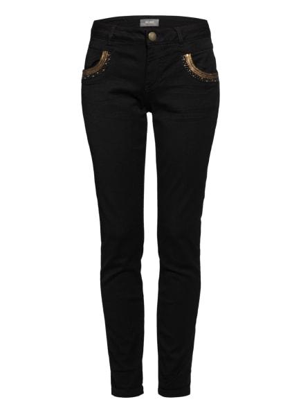 MOS MOSH Jeans NAOMI mit Nietenbesatz und Glitzergarn, Farbe: 801 BLACK (Bild 1)