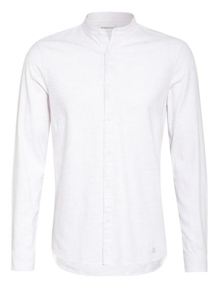 NOWADAYS Flanellhemd Regular Fit mit Stehkragen , Farbe: WEISS (Bild 1)