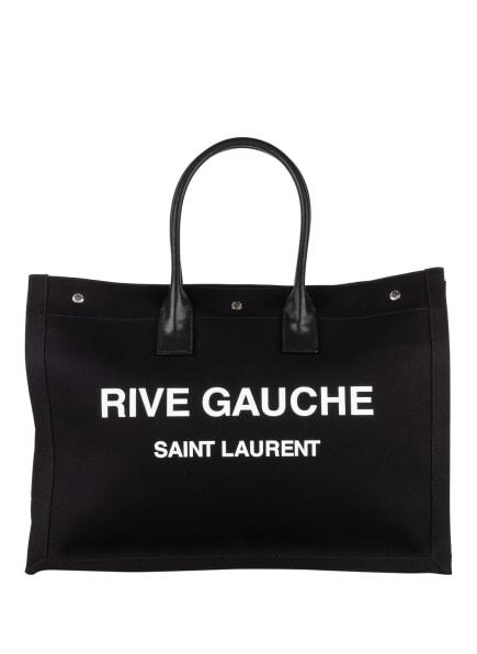 SAINT LAURENT Shopper RIVE GAUCHE, Farbe: SCHWARZ/ WEISS (Bild 1)