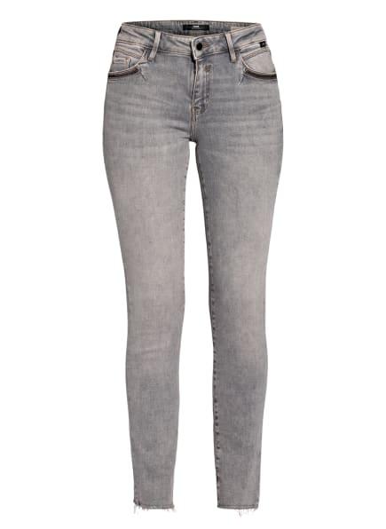 mavi Skinny Jeans NICOLE mit Paillettenbesatz, Farbe: 31780 lt grey memory (Bild 1)