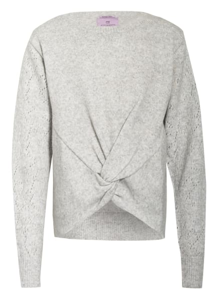 SCOTCH R'BELLE Pullover in Wickeloptik, Farbe: HELLGRAU (Bild 1)