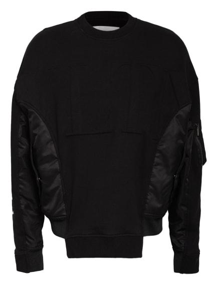 VALENTINO Oversized-Shirt im Materialmix, Farbe: SCHWARZ/ WEISS (Bild 1)