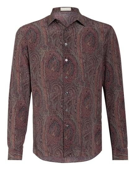 ETRO Seidenhemd WARREN Regular Fit, Farbe: DUNKELROT/ SCHWARZ/ HELLGELB (Bild 1)