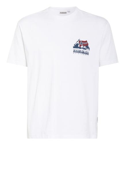 NAPAPIJRI T-Shirt SUAR, Farbe: WEISS/ BLAU/ DUNKELROT (Bild 1)