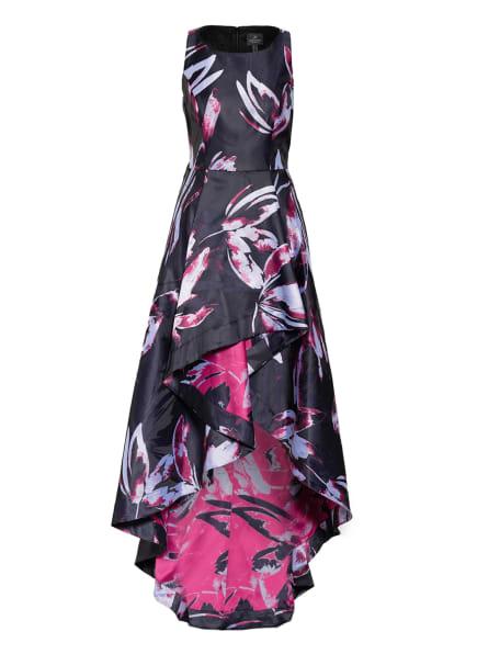 ADRIANNA PAPELL Jacquard-Kleid, Farbe: SCHWARZ/ SILBER/ FUCHSIA (Bild 1)