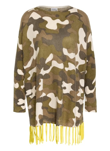 Emily Oversized-Pullover, Farbe: OLIV/ KHAKI/ CREME (Bild 1)