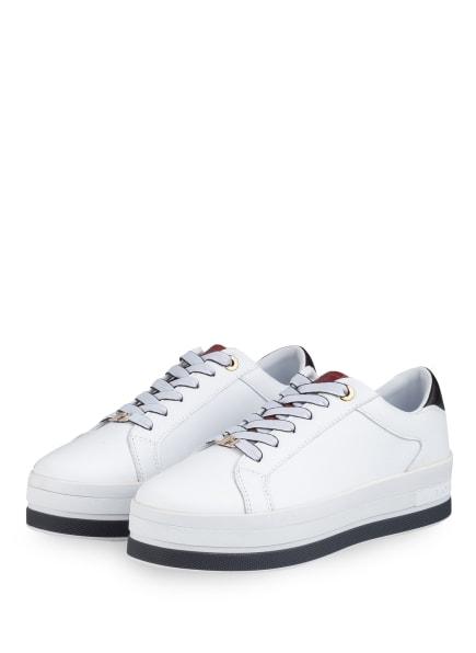 TOMMY HILFIGER Plateau-Sneaker, Farbe: WEISS (Bild 1)