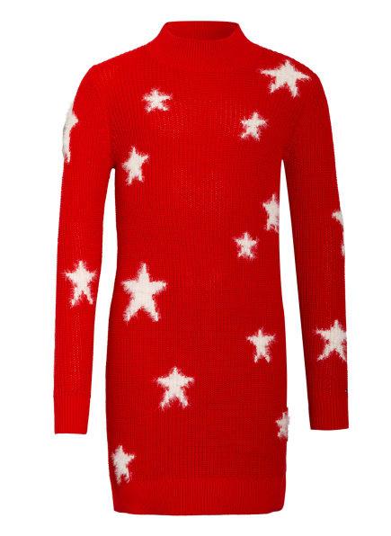 TOMMY HILFIGER Stickkleid STAR, Farbe: ROT/ WEISS (Bild 1)