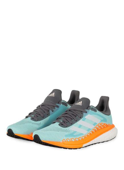 adidas Laufschuhe SOLAR GLIDE ST 3, Farbe: MINT/ WEISS/ ORANGE (Bild 1)