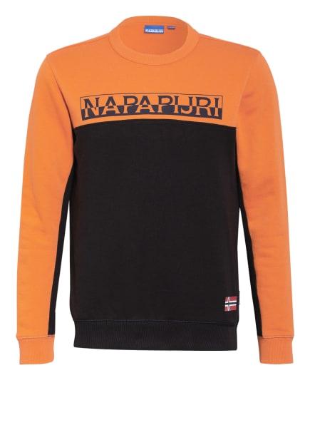NAPAPIJRI Sweatshirt B-ICE, Farbe: ORANGE/ SCHWARZ (Bild 1)