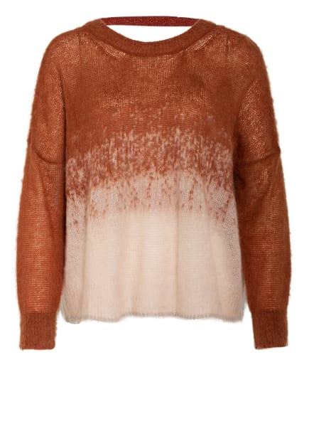 MAX & Co. Oversized-Pullover PAGRO mit Glitzergarn , Farbe: NUDE/ COGNAC (Bild 1)