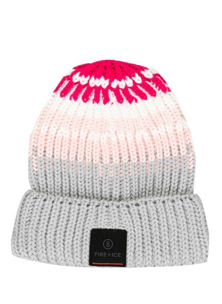 FIRE+ICE Mütze GRIT, Farbe: HELLGRAU/ HELLROSA/ PINK (Bild 1)