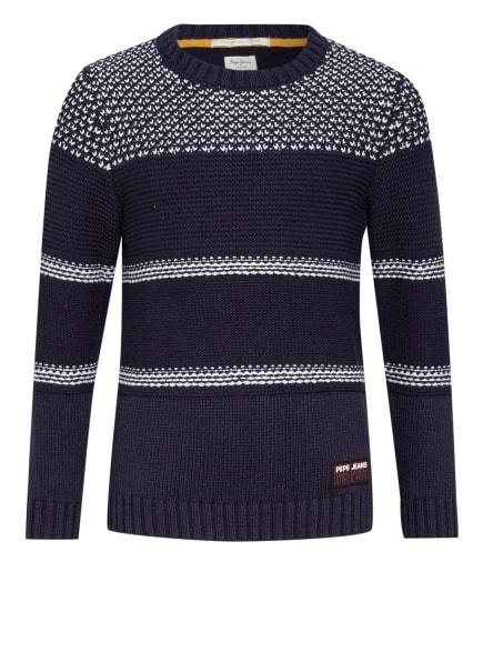 Pepe Jeans Pullover, Farbe: DUNKELBLAU/ WEISS (Bild 1)