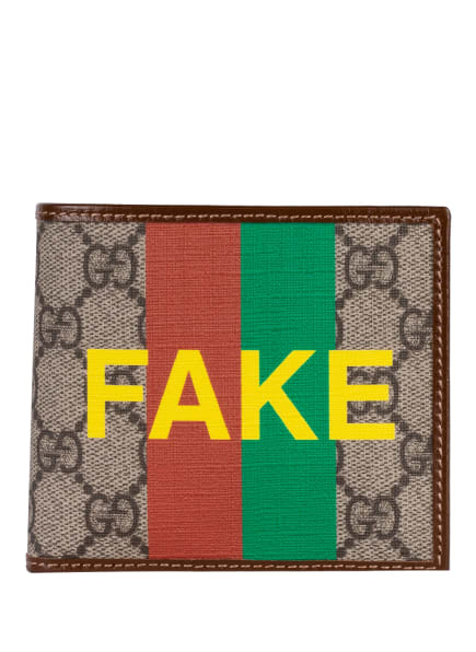 GUCCI Geldbörse GG SUPREME FAKE/NOT, Farbe: 8280 BE.E.N.R.N.SH.YE/B.S. (Bild 1)