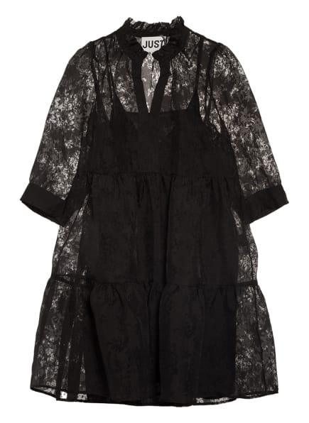 JUST FEMALE Kleid KIKI mit 3/4-Arm, Farbe: SCHWARZ (Bild 1)