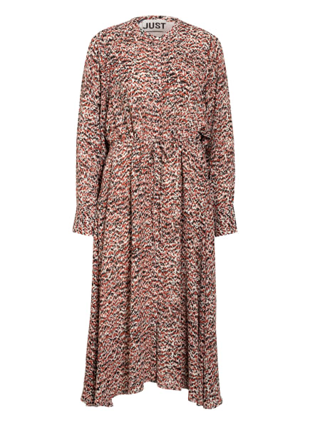 JUST FEMALE Kleid VIRGINIA, Farbe: CREME/ SCHWARZ/ DUNKELORANGE (Bild 1)
