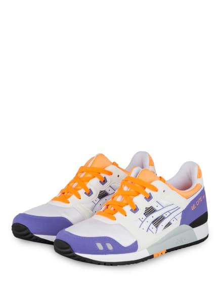 ASICS Sneaker GEL LYTE III , Farbe: WEISS/ LILA/ ORANGE (Bild 1)