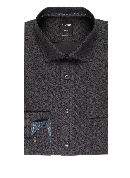 OLYMP Hemd Luxor modern fit, Farbe: SCHWARZ/ DUNKELGRAU (Bild 1)