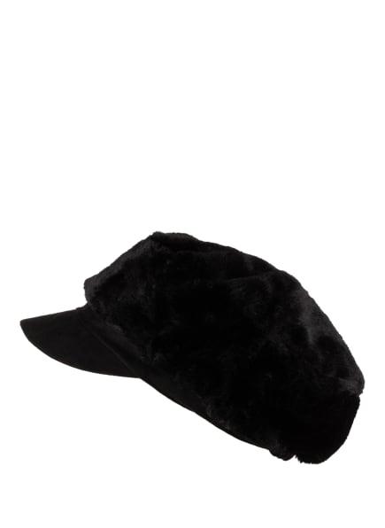 SEEBERGER Mütze mit Kunstpelzbesatz, Farbe: SCHWARZ (Bild 1)