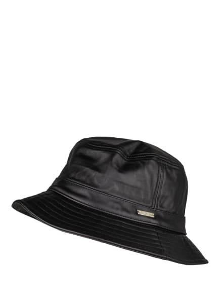 SEEBERGER Bucket-Hat aus Leder, Farbe: SCHWARZ (Bild 1)