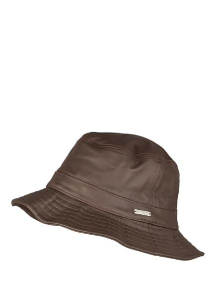 SEEBERGER Bucket-Hat aus Leder, Farbe: HELLBRAUN (Bild 1)