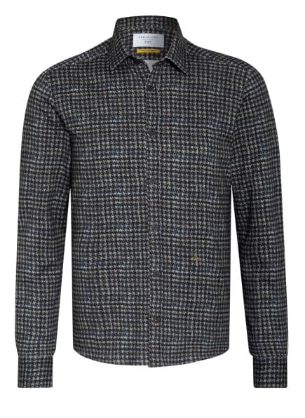 NEW IN TOWN Hemd Slim Fit, Farbe: HELLGRAU/ PETROL (Bild 1)