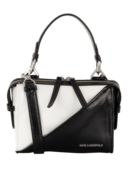 KARL Handtasche SLASH SMALL, Farbe: SCHWARZ/ WEISS (Bild 1)